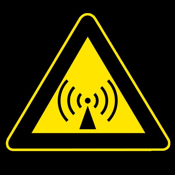 FichierRadio waves hazard symbol