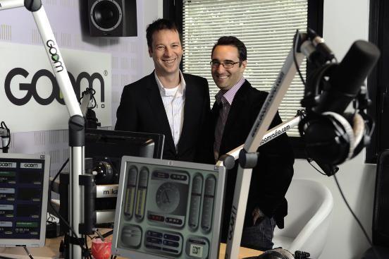 Roberto Ciurleo (à g.) et Emmanuel Jayr Goom Radio