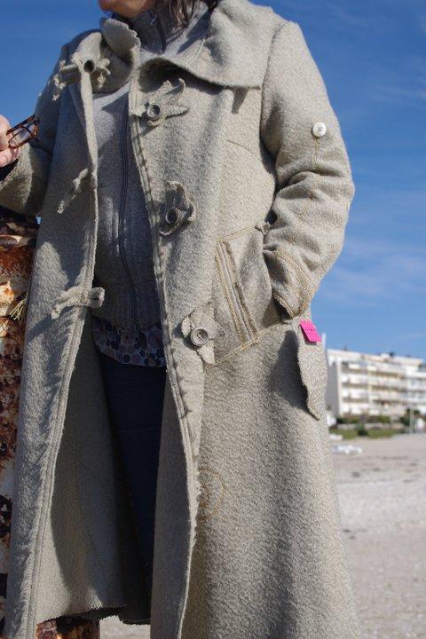 Marie-Paule Manteau laine T46