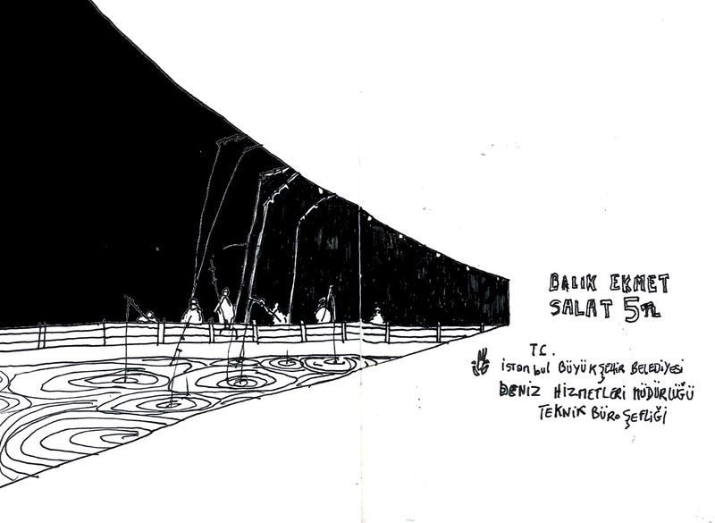 Sous le pont les lignes