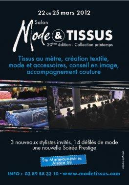 Affiche Modes & tissus Printemps 2012