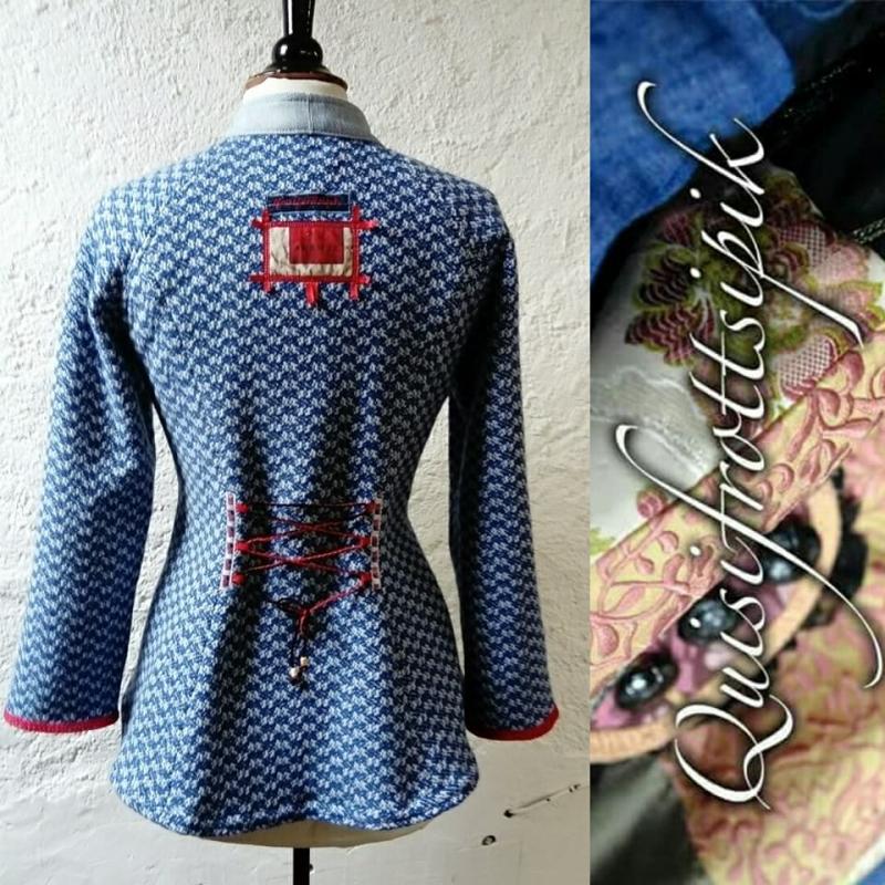 N°775 veste detail dos T42 pièce unique 239€