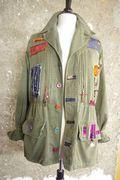 N°335 Veste Militaire Custom Quisifrottsipik pièce unique  219€
