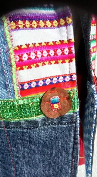 N°890 Veste Taille T38 pièce unique 299€ bouton