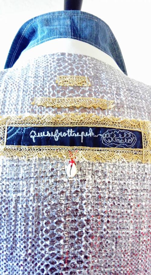 N°683 Détail veste longue T40 Pièce unique 269€