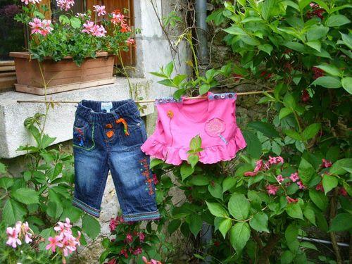 Jean & T-Shirt de Bébé Customisé par Quisifrottsipik Pièce Unique
