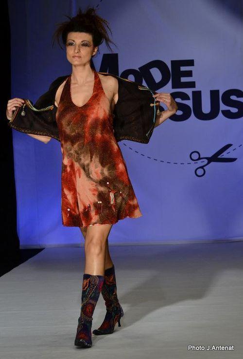 """Silhouette 16 """"Quisifrottsipik"""" au Défilé """"Mode & Tissus"""" Printemps/Eté 2012"""