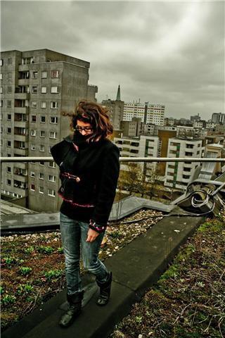veste Quisifrottsipik pièce unique sur les toits de Berlin