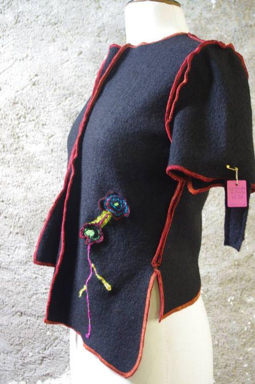 Pull laine bouillie Quisifrottsipik pièce unique