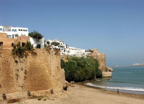 Vue sur la plage de Rabat