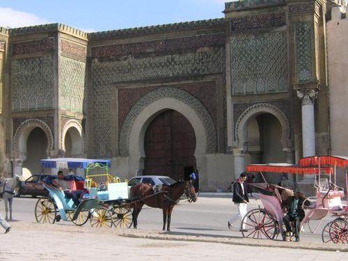 Bab el Mansour à Meknès, la plus grande porte d'Afrique.