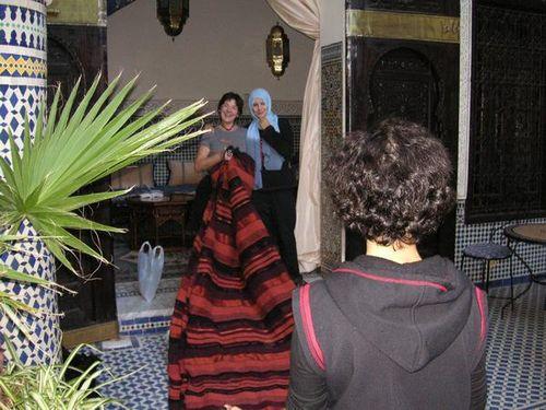 Ma commande de tissage est arrivée au Riad Fes Baraka