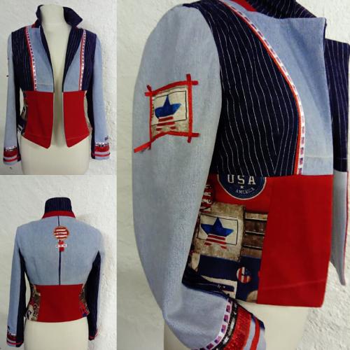 VENDU N°768 Veste T40 pièce unique 289€ www.quisifrottsipik.com