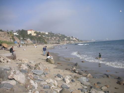 Vue sur la Baie de Santa Monica, depuis Malibu.