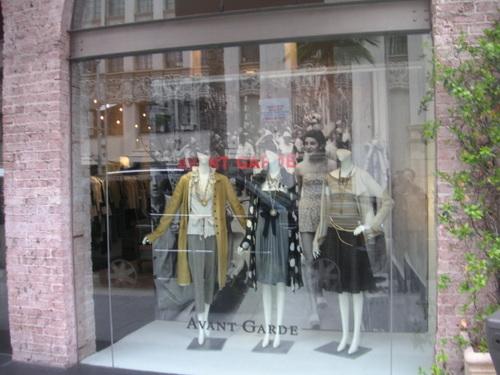 "Vitrine boutique ""Avant Garde"""