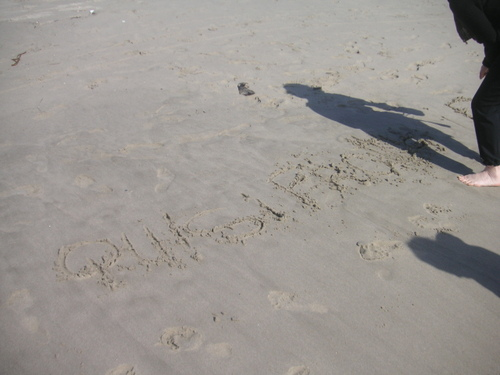 Quisifrottsipik sur le sable de Venice!
